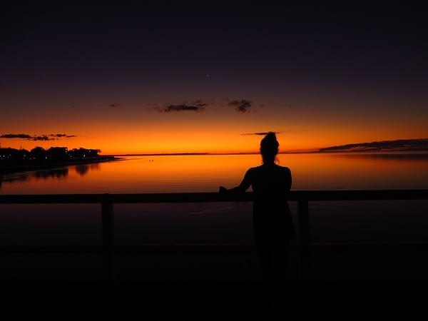sunset on Fraser Island, Queensland