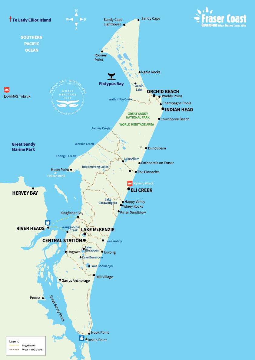 fraser-coast-map-woolshed-eco-lodge