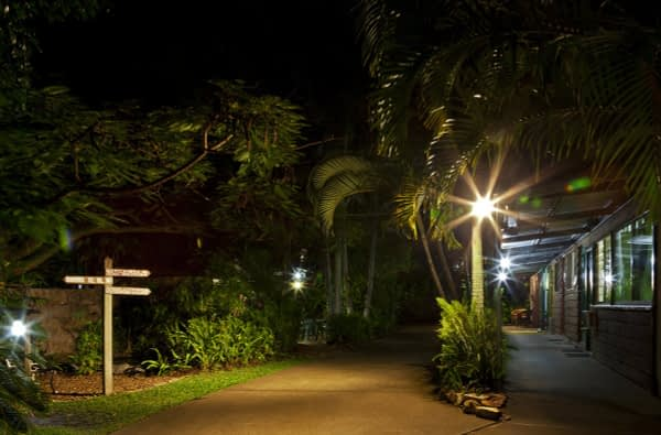 Night time at Woolshed Eco Lodge